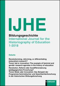 Bildungsgeschichte - International Journal for the Historiography of Education