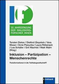 """Bild vom Buchcover des Sammelbandes """"Inklusion - Partizipation - Menschenrechte. Transformationen in die Teilhabegesellschaft?""""."""