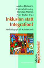 Inklusion statt Integration?